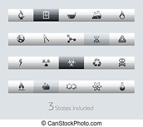 Science Icons / Classic - The .eps file includes 3 buttons...