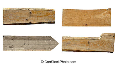 wooden sign background message - collection of various empty...