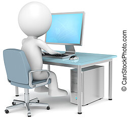 Workstation - 3D little human character Searching on...