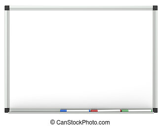 Whiteboard - Blank Whiteboard with 3x marker pen, for copy...
