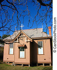 Spooky Scary Church in Outback Town Australia - Old Catholic...