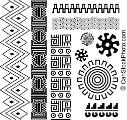 Ancient pattern - Vector image of ancient american pattern...
