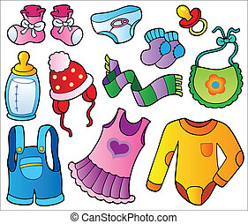 Baby clothes collection - vector illustration