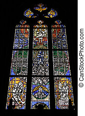 Konstanz cathedral - Stained glass art in Konstanz Cathedral...