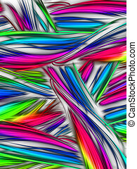 chaotic stripes - multi-colored chaotic stripes on a light...