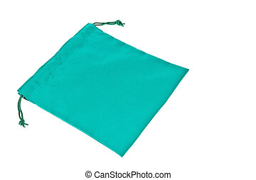 Colorful green cotton bag