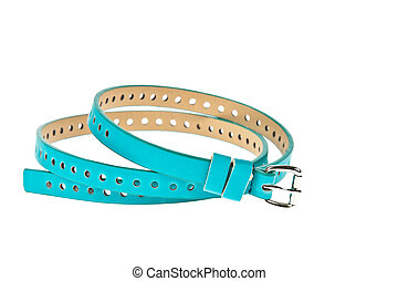 colorful blue belt on white background