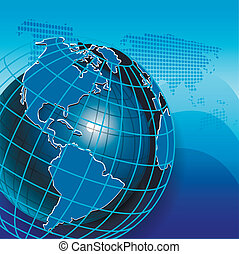 Texture Globe - illustration texture globe on net like blue...