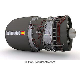 bomb  - indignados atomic bomb isolated on white background