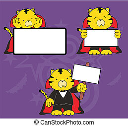 tiger dracula cartoon signboard