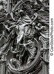 Pieta - Jesus Christ death - Milan Cathedral, Italy. Famous...