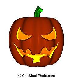 Toon Style Halloween Pumpkin