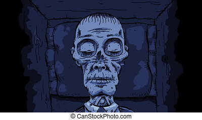 Quiet Cartoon Corpse - A quiet cartoon corpse rests...