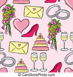 wedding pattern - wedding seamless pattern