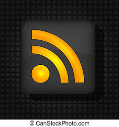 Vector RSS icon for your design