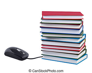 Concept of e-books and educational inernet.