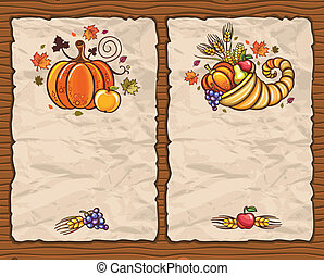 Thanksgiving theme 8 - Beautiful Holiday paper arrangements...