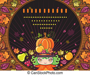 Thanksgiving holiday frame 14 - Thanksgiving greeting card...