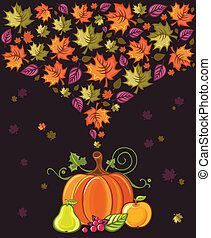 Thanksgiving Design 2 - Thanksgiving Design: colorful leaves...