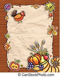 Thanksgiving theme 11 - Beautiful Holiday paper arrangement...
