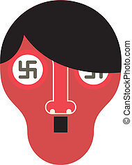 Hitler - vector illustration - Stylized portrait of Hitler -...