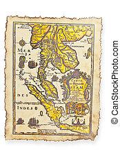 Antique map, Thailand
