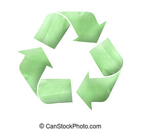 Paper Recycle logo concept