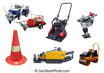 road construction machines and equipment - The image of...