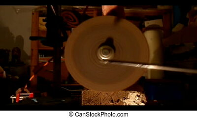 grinder - grinding iron of an arrowhead