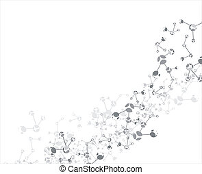 Molecule background - Molecule on the white background