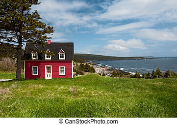 Salt Box House, Witless Bay NL - Antique salt box house...