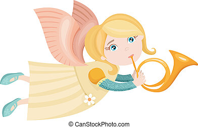 christmas angel - vector illustration of a cute christmas...