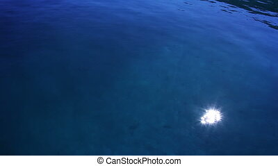 Sun shine in sea water with CANON M