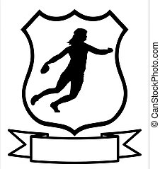 Ladies Discus Thrower Shield - Isolated Image of a Female...