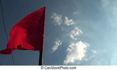 flag wind - Red flags wind