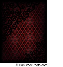 Burgundy background with ornament