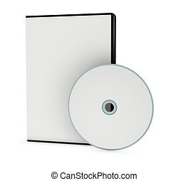 blank cd or dvd jewel case - one cd or dvd case with a disc...