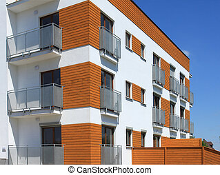 Residential architecture - Modern apartment building Freshly...