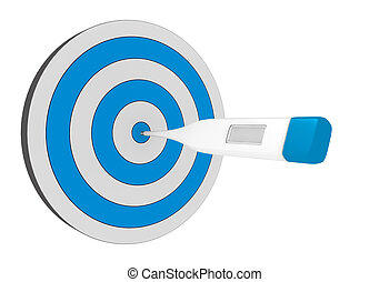 right diagnosis - one target with one thermometer at the...
