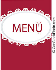 restaurant menu design , vector illustration
