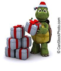 烏龜, 聖誕老人, 字
