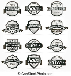 Labels Satisfaction retro design