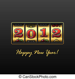 Happy New Year 2012 - Vector illustration of Happy New Year...