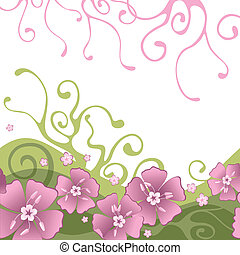 background with flowers - background with pink flowers and...