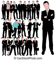 25 Business Peoples Set - 25 Business Peoples Silhouettes...