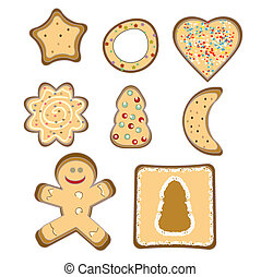 gingerbread isolated vector