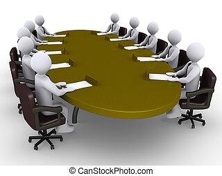 Conference between businessmen - Businessmen sitting around...