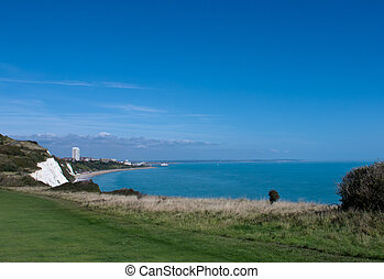 Eastbourne from Whitbread Hollow - East Sussex coastal town...