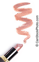 Lipstick with trace - Close up of Lipstick with trace