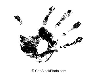 hand print on white background, vector illustration